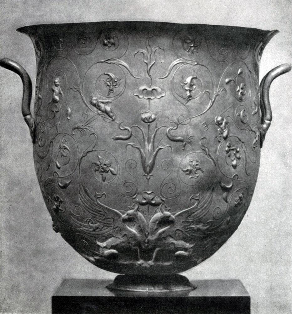 278. Серебряный сосуд из Гильдесгеймского клада. 1 в. н. э. Берлин.