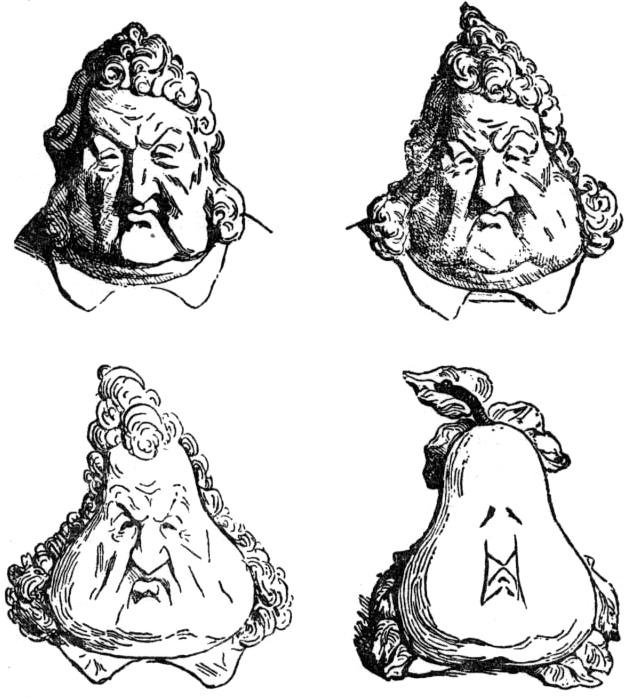 Карикатура на Луи-Филиппа. <br>