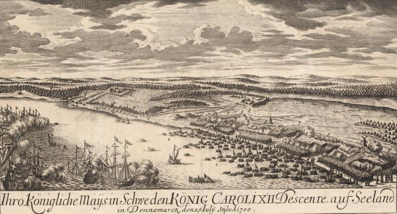Высадка шведских войск при поддержке англо-голландского флота. sv.wikipedia.org - Минус один союзник | Warspot.ru